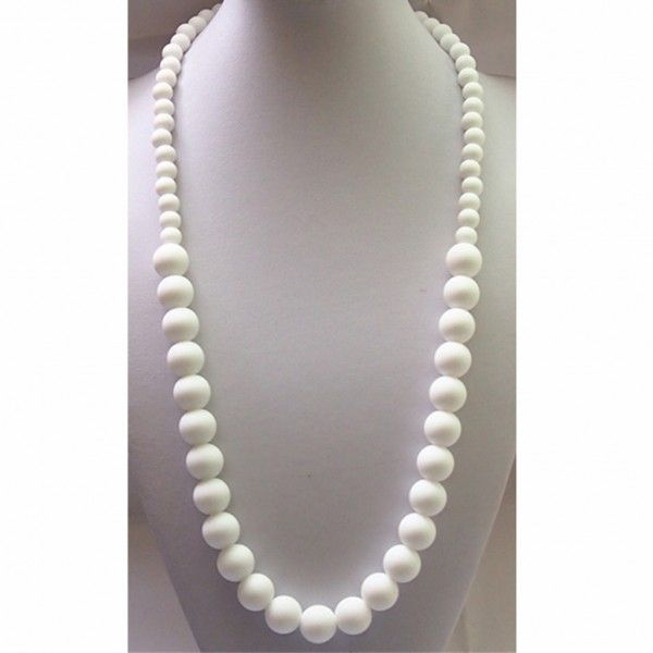 Snow White Food Grade Silicon Teething Necklace