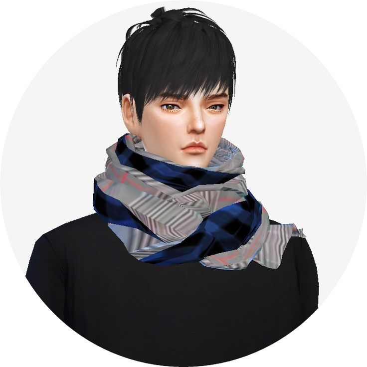 SIMS4 marigold: male_two tone scarf_투톤 스카프_남자 남자 목도리