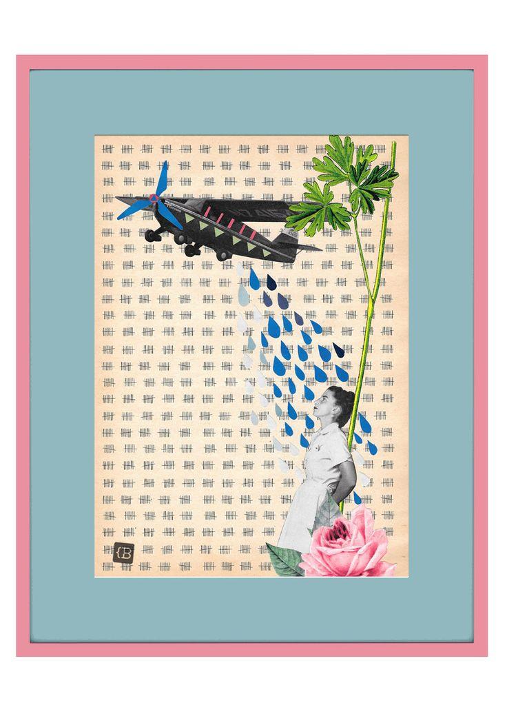 Miss U by Kinga Berkowska; collage papercuting