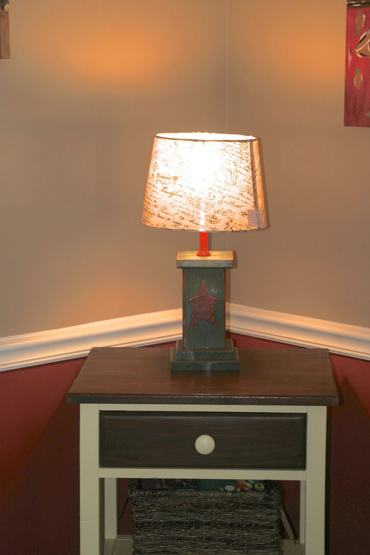 Primitive table lamp by MyKentuckyhomegoods on Etsy