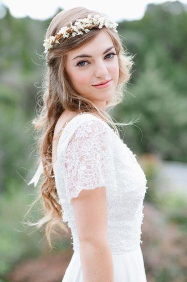 fotos novias con corona de flores - Buscar con Google