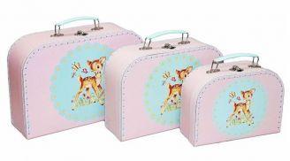 Decor :: Kids Mini Suitcase Set - Deer -