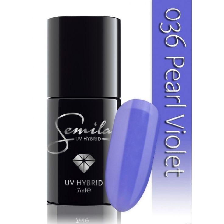 Ημιμόνιμο μανό Semilac - 036 Pearl Violet 7ml - Semilac   Προϊόντα Μανικιούρ - Πεντικιούρ Semilac & Ημιμόνιμα.