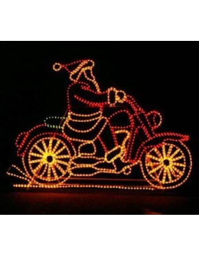 Santa on Motorcycle with Controller: Motorcycles, Santa, Christmas Decorations, Christmas Lights, Christmas Holiday, Christmas Ideas, Outdoor Christmas, Merry Christmas