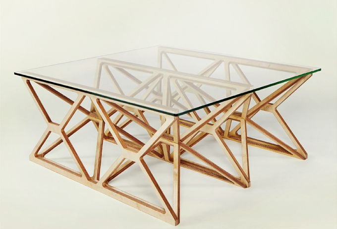CNC routed space frame table