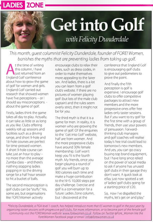 My second column in County Zone Golf magazine (Sept 2015)