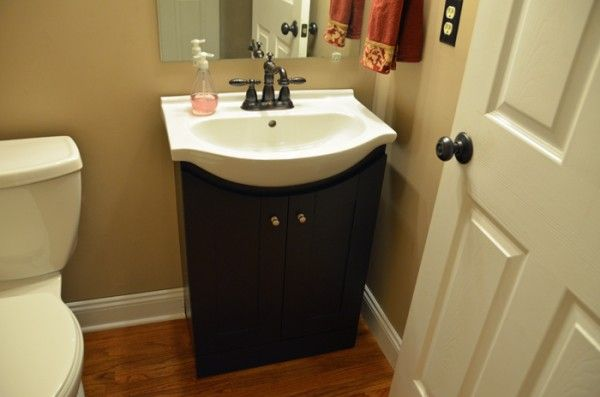 21 best bathroom tiles images on pinterest bathroom - Small powder room sink ...