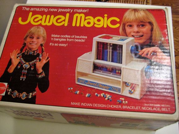 Vintage 1974 JEWEL MAGIC Jewelry Maker by MATTEL. Had it! My favorite toy when I was young