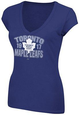 Majestic Toronto Maple Leafs Ladies Breakout Star V-Neck T-shirt - Shop.Canada.NHL.com