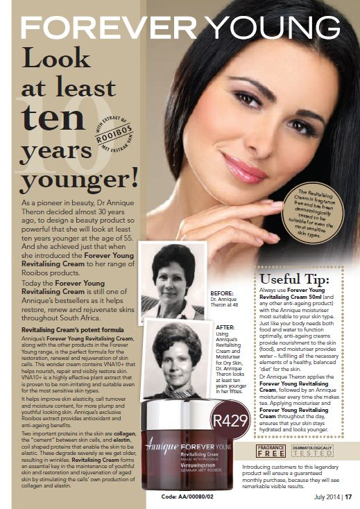 Dr Annique Theron wanted to achieve younger-looking skin and with Rooibos, she did just that. Find out how here...