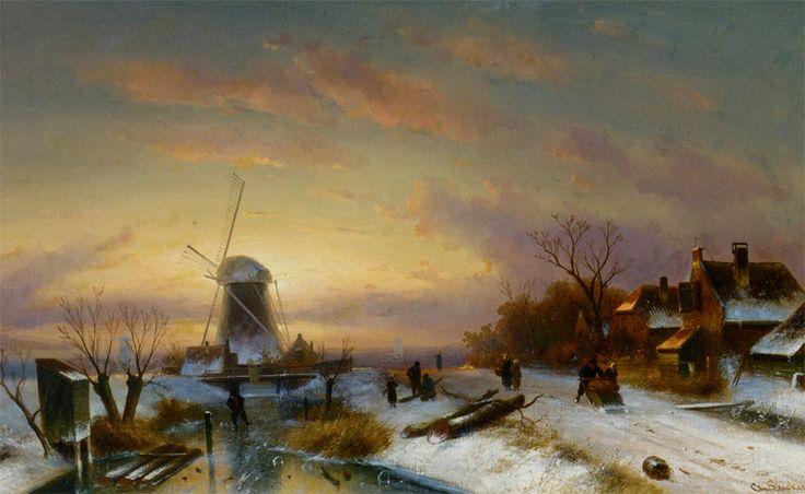 Charles Leickert Romantic Landscape Painter Eastern Art Painting Western Art