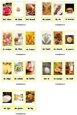 Eten en drinken downloads » Juf Sanne