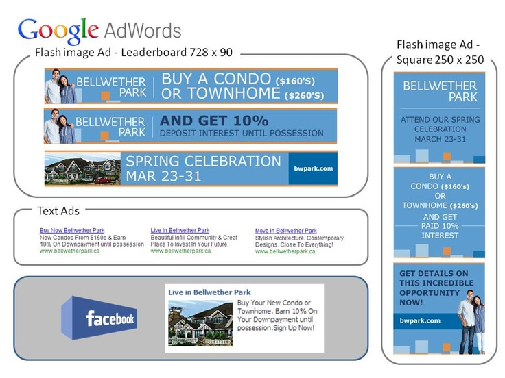 Online Campaign for Bellwether Park – Google and Facebook online advertisement  to increase web traffic.  E-Marketing coordination and copy writing.  CSG – Consumer Strategies Group (Feb/2013)