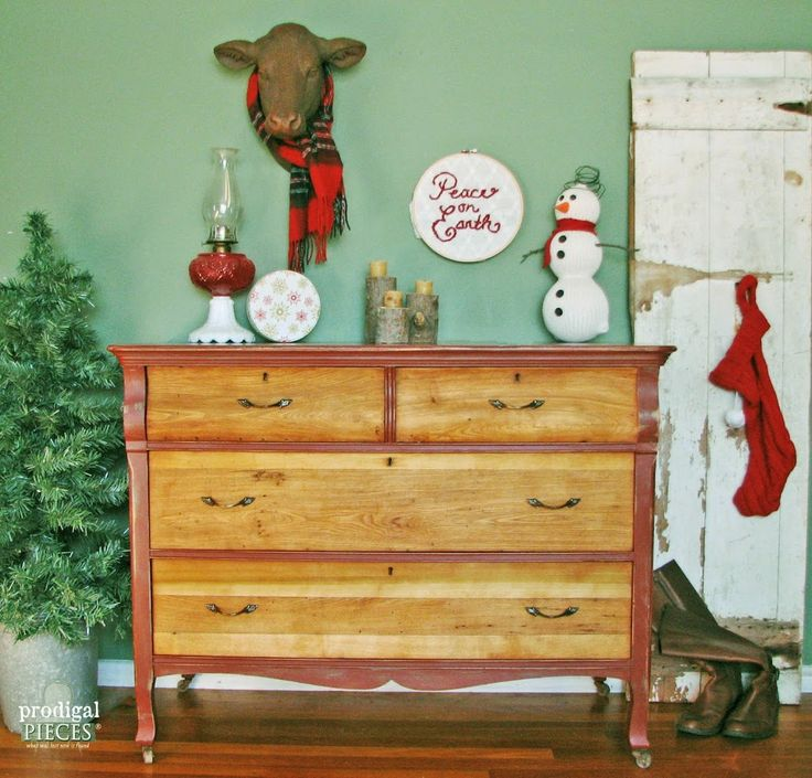 themed furniture makeover day rustic red farmhouse cottage chic