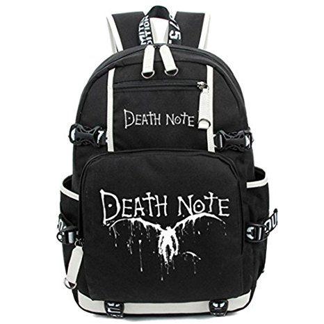 Bromeo Death Note Anime Karikatur Leuchtend Backpack Rucksack Büchertasche Schule Tasche