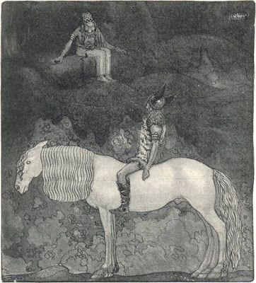 John Bauer, illustration till Viktor Rydbergs bok Fädernas gudasaga