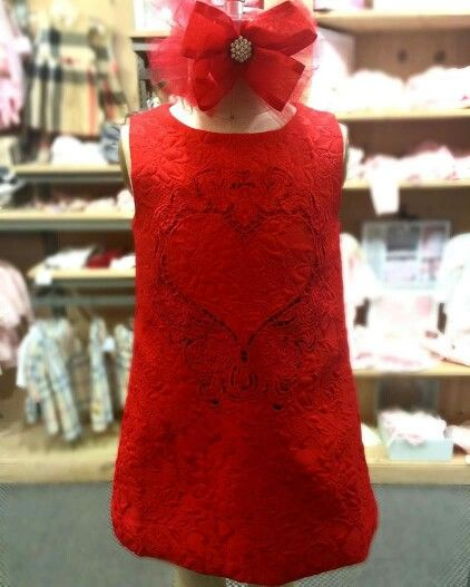Spreading the ❤️ at Little Ones with this gorgeous little red dress! Perfect for a special Valentine's Day!