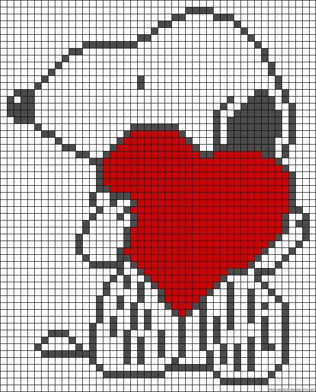 Snoopy love perler bead pattern