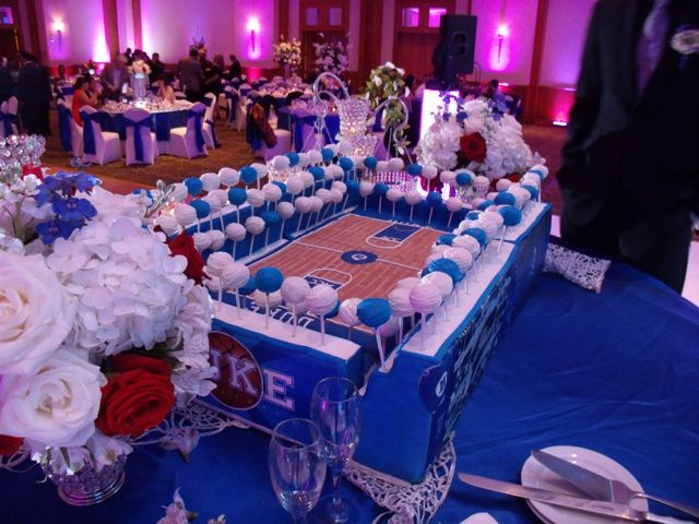 Awesome And Large Duke Blue Devils Basketball Arena Grooms Cake Wedding Cakes Duke Blue