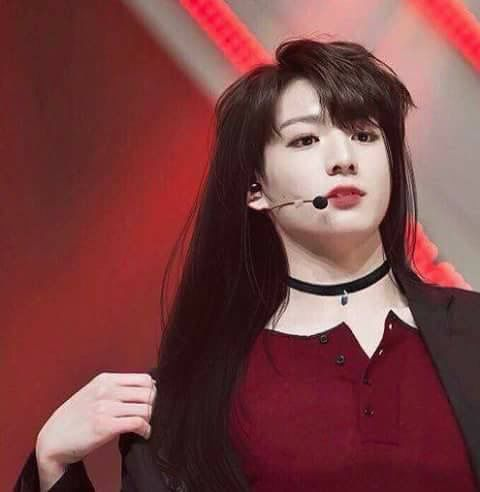 Okay I QUIT as a girl. Jungkookie would be the most beautiful girl in existence!