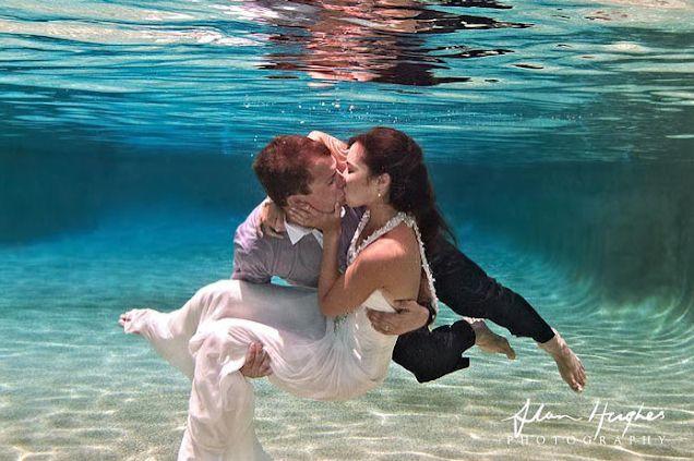 Underwater Wedding Photography - The Bride's Tree