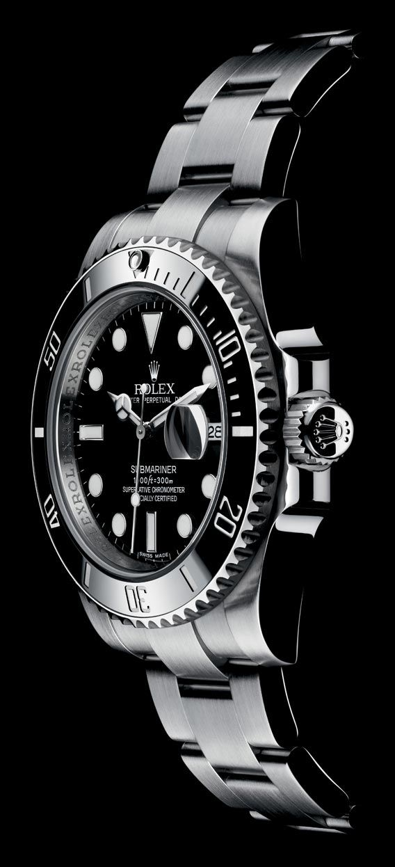 The Watch Quote: The Rolex Oyster Perpetual Submariner Date watch with black or green surface | Raddest Men's Fashion Looks On The Internet: http://www.raddestlooks.org