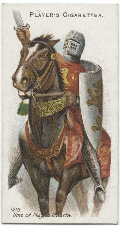 Arms and Armour. [A horseman in armour.] 1215. Time of Magna Charta [Magna Carta]. (ca. 1905-1917)