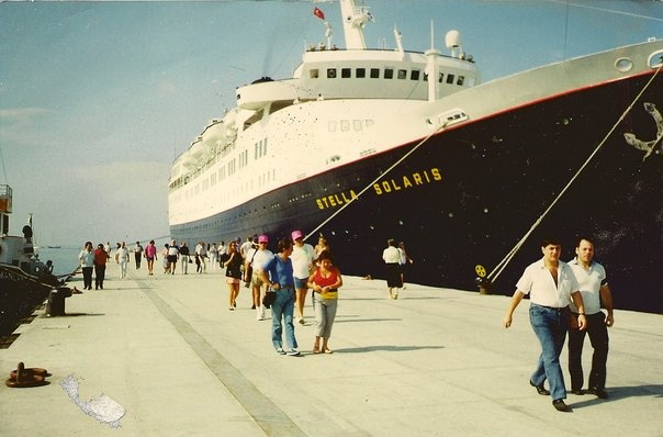 """The """"Stella Solaris"""", our cruise ship for Greece and Turkey trip"""