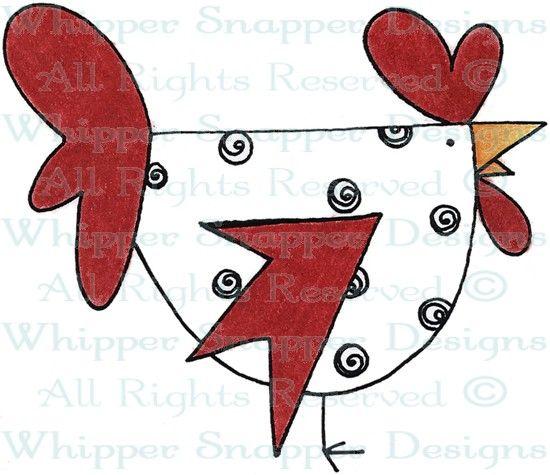 Spiral Chicken - Chickens - Animals - Rubber Stamps - Shop