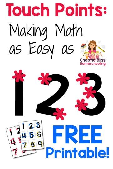 Touch Points: Making Math as Easy as 1 2 3 (Free Printable) • Chaotic Bliss Homeschooling
