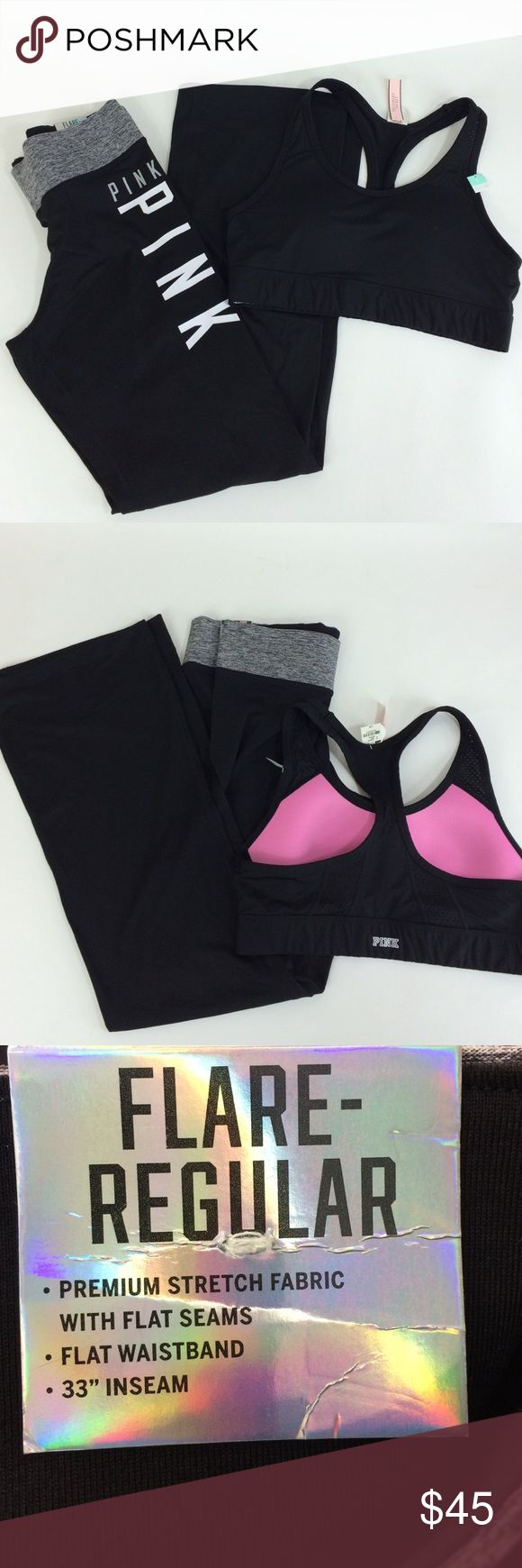 Pink ultimate sports bra & gym pants Pink Victoria's Secret ultimate lightly lined sports bra and gym pants Pink ultimate victoria's secret Intimates & Sleepwear Shapewear