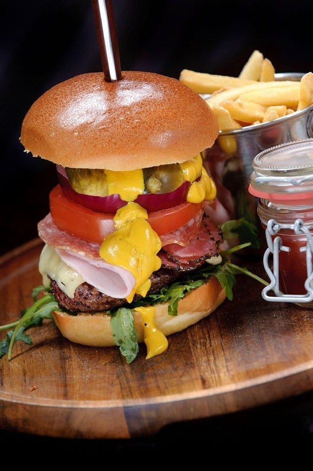 A burger at The Blue Pig // 21 Things Everyone Needs to Eat in Manchester