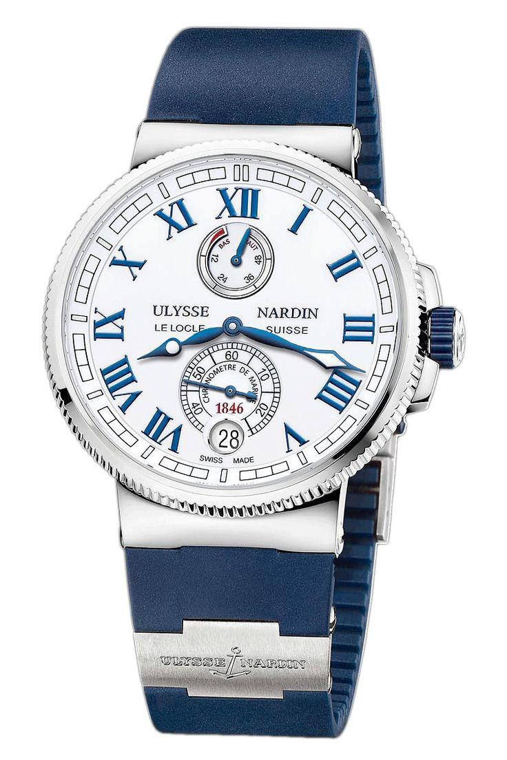 Marine Chronometer Manufacture White Dial 43mm