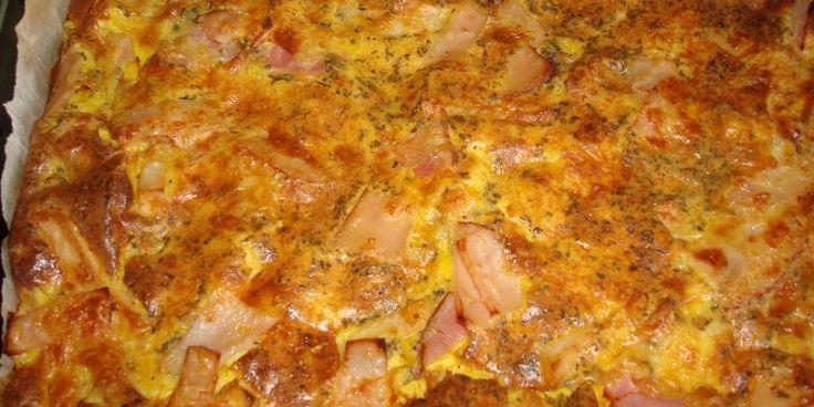 Ομελέτα φούρνου με μπέικον, πατάτες & τυριά