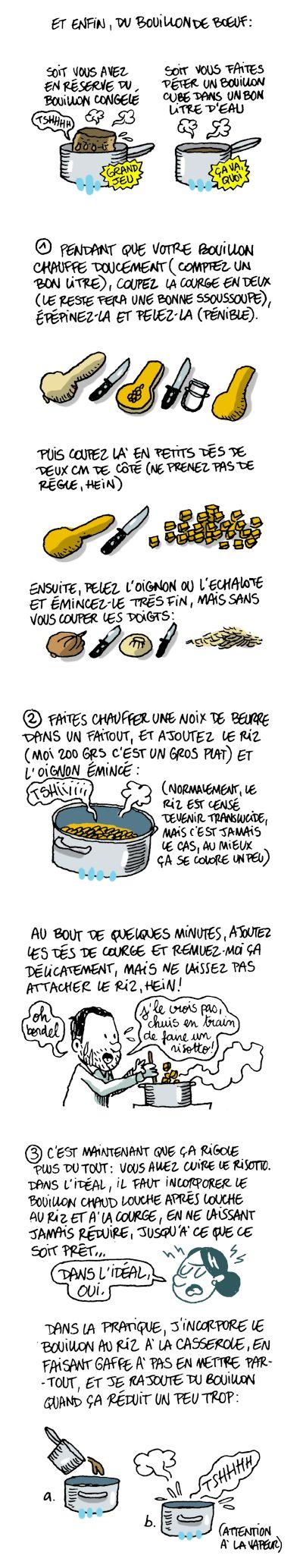 risotto de courge butternut et gorgonzola, cliquer sur le lien pour la recette et les ingrédients