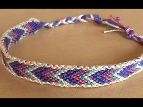 Bracelet br silien chevron avec bordure d butant youtube loisirs cr atifs crafts - Longueur fil bracelet bresilien ...