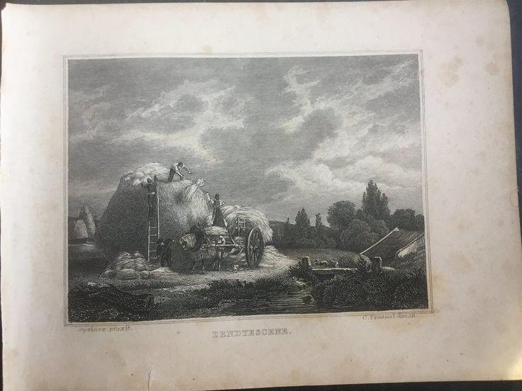 Annons på Tradera: erndtescenTyskland Antik Etsning Topografisk Plansch 1840 Das kleine Universum