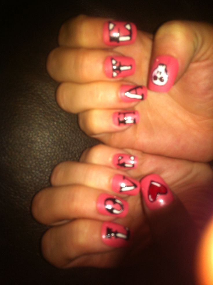 Love Hate nails by me :)