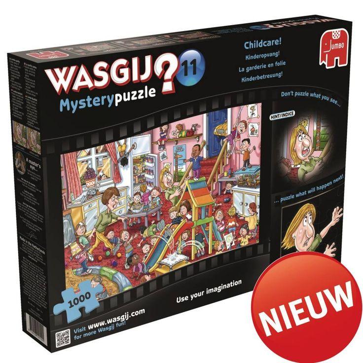 wasgij mystery puzzle 11 kinderopvang 1000 stukjes, mijn favoriete puzzel (jan van haasteren).  Hebben ze in happyland