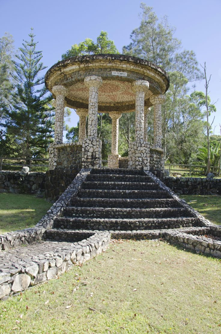 The Temple can be found at Admiralty Avenue, an impressive structure which stands outside the historic Tanilba House, Built by convicts for Lieutenant William Caswell who received a land grant of 50 acres in 1831. #portstephens #tanilbahouse