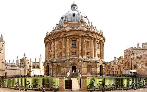 Radcliffe Camera Oxford England: Like London, Oxford is a city full of books.  No matter where you go in Oxford, it seems you are only a few cobblestones away from a bookstore, a library, a literary landmark, or a reader.