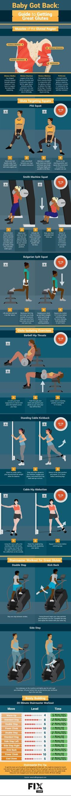 Tone your butt with our glute workout routine! It includes squats, strength training, and a cardio Stairmaster workout to cap it all off.