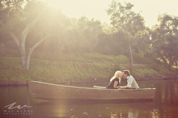 Southern weddings, Southern wedding ideas, Wai Reyes engagement session, rowboat engagement session