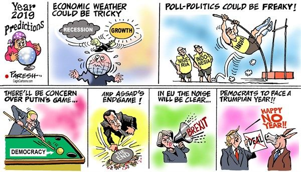 Predictions 2019 | News Cartoons & Opinions | Cartoon, Political