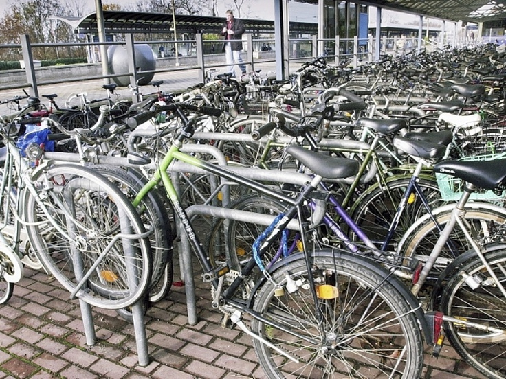 ERLANGEN Germany - yeah, that's what I remember about Erlangen - thousands and thousands of bicycles for some reason