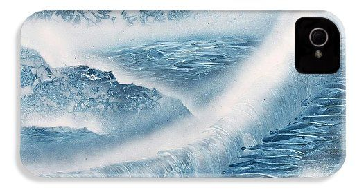 Waterfall From Heaven IPhone 4 / 4s Case Printed with Fine Art spray painting image Waterfall From Heaven by Nandor Molnar (When you visit the Shop, change the orientation, background color and image size as you wish)