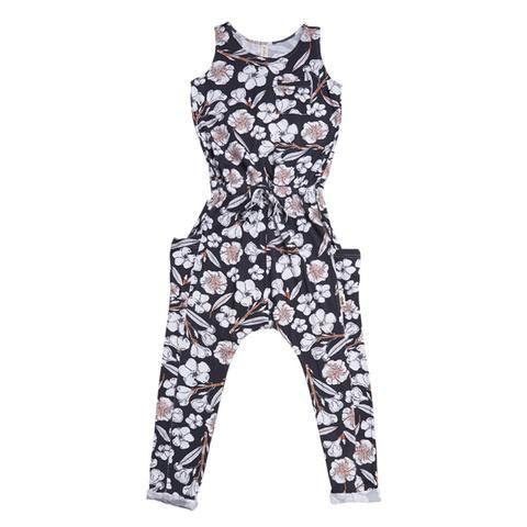Woodstocker Jumpsuit - Black Flora