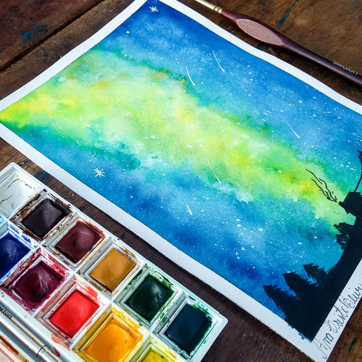 Watercolor Landscape 2. @anacbeier - Facebook/anacristibeierilustrações.com
