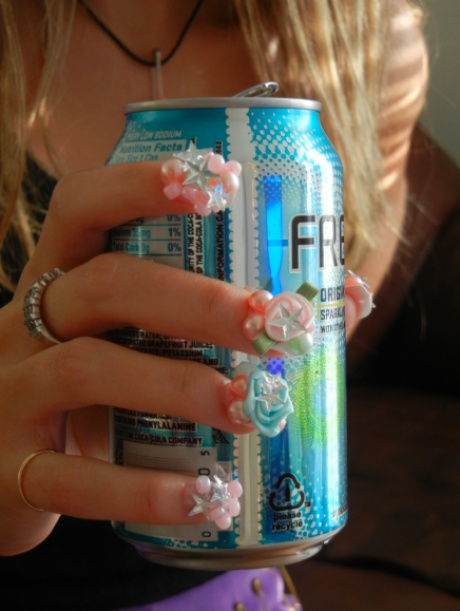DIY: Cheap and Easy 3D Nail Art - though, if I ever did do this, mine would be much less extravagant.