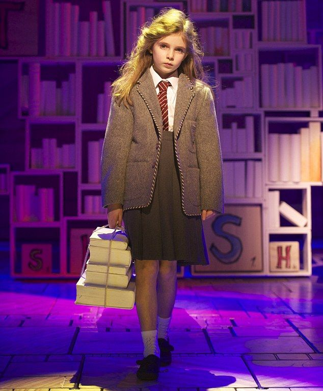 Sharing the role: Four young actresses including Eleanor Worthington Cox will play Matilda in the musical